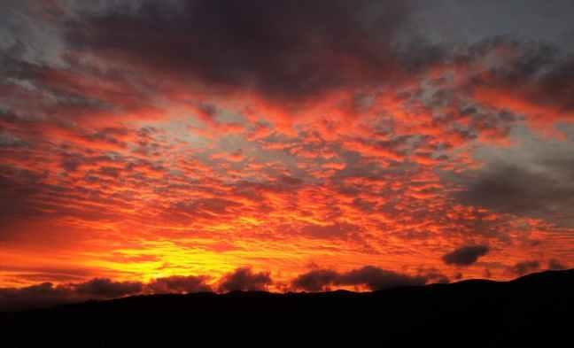 black clouds dark dawn